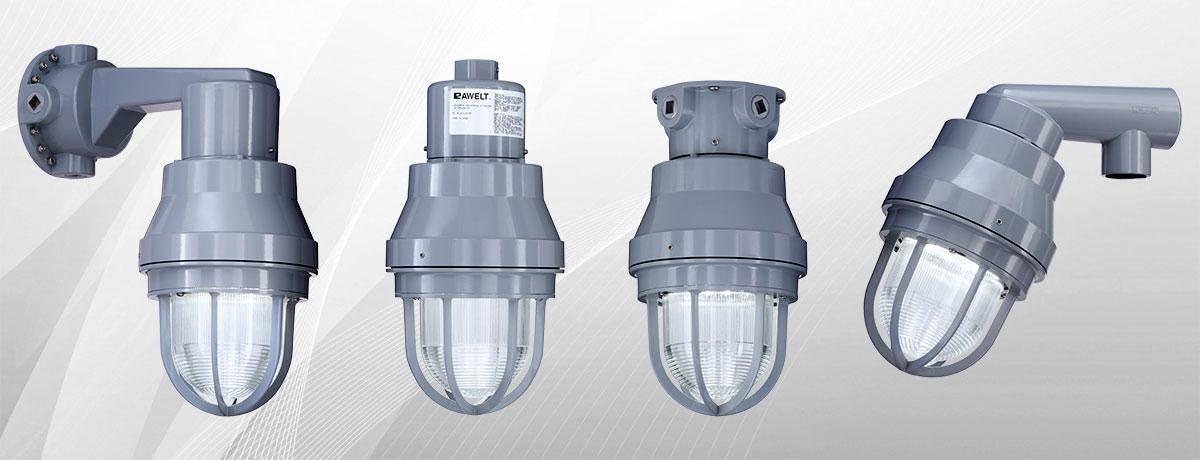 Luminaria industrial a prueba de explosion rawelt for Lamparas y plafones de pared