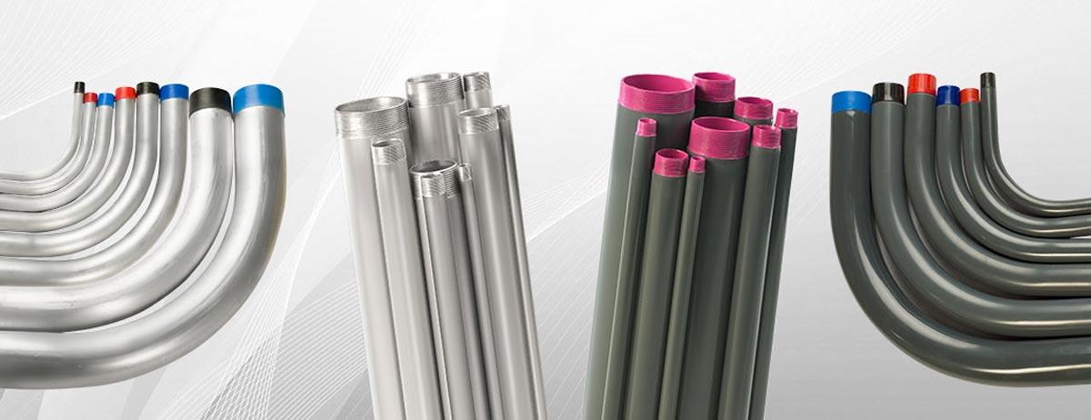 Tubo conduit rigido de aluminio rawelt - Tubo plastico rigido ...